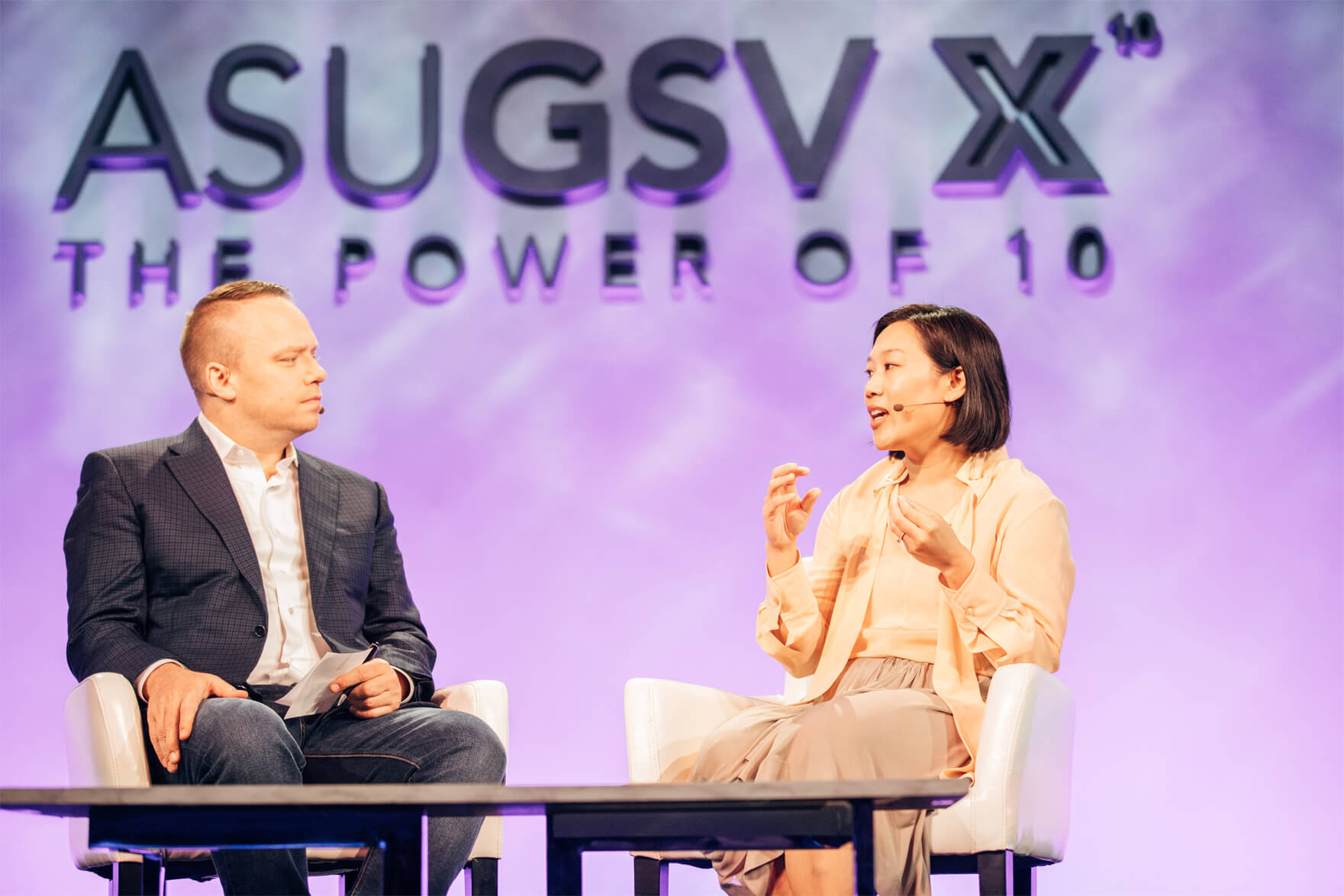 Priscilla Chan speaking at ASU-GSV