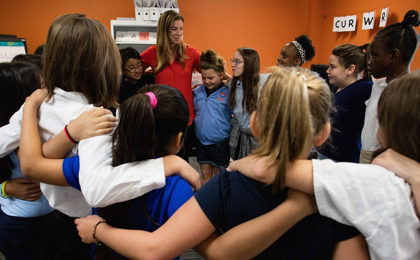 September 19, 2018 | Ms. Tricia Berry's students come together to close out their weekly Circle practice at Valor Flagship Academy in Nashville, TN. Photograph by John Edmonds