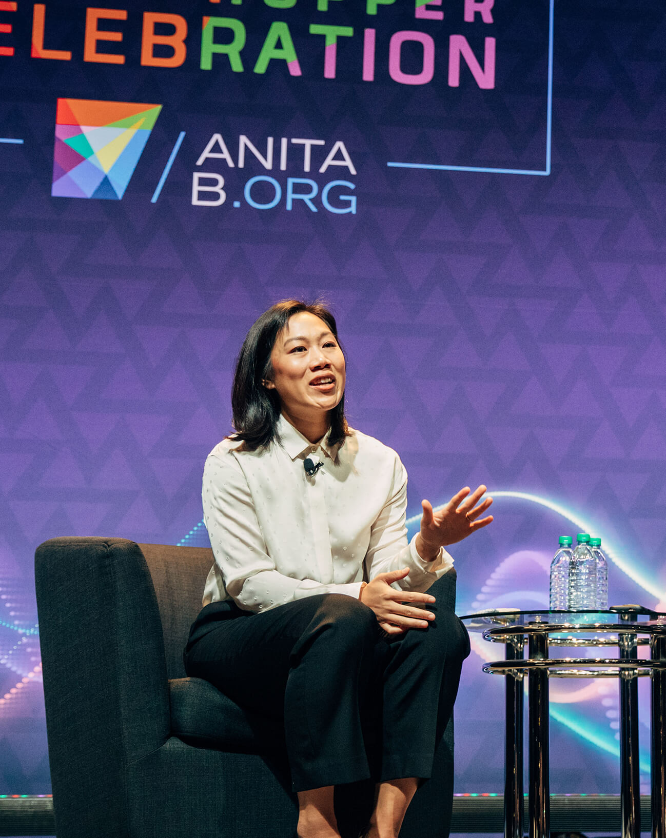 September 27, 2018 | CZI Co-Founder Priscilla Chan speaks at the Grace Hopper Celebration of Women in Computing.