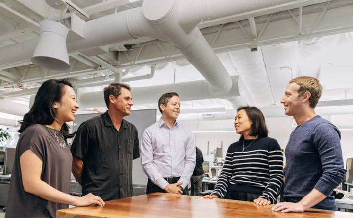 June 15, 2018 | Priscilla Chan and Mark Zuckerberg welcomed Phil Smoot and Jonathan Goldman, who joined Sandra as CZI's technology leaders.