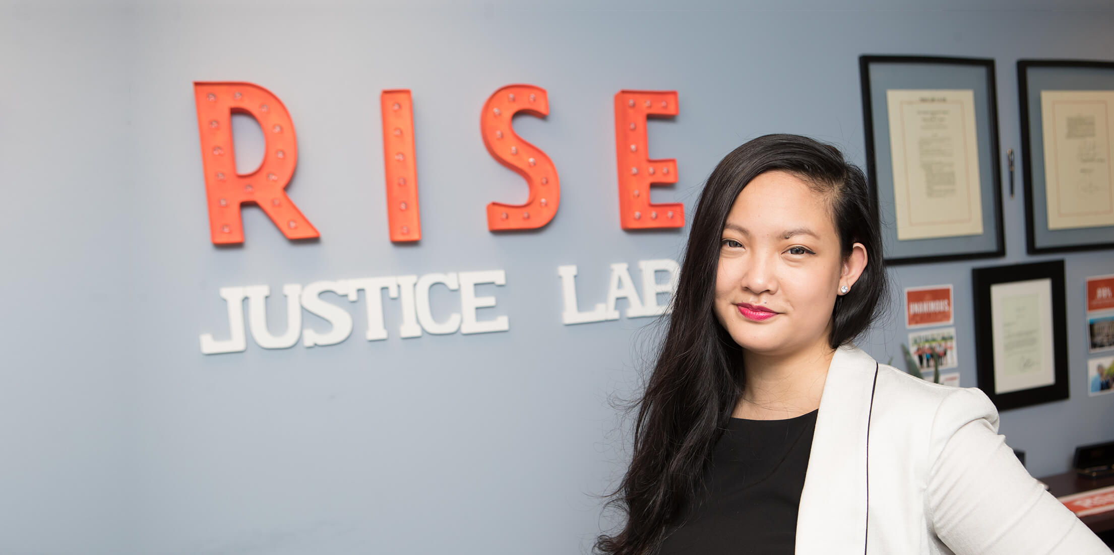August 12, 2017 | Amanda Nguyen, founder of Rise, a civil rights non-profit that supports survivors of rape and sexual assault, in her Washington D.C. office. Photograph by Ting Shen