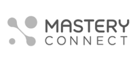 MasteryConnect logo, with two separate and two connected dots icon at left (CZI venture investments portfolio).