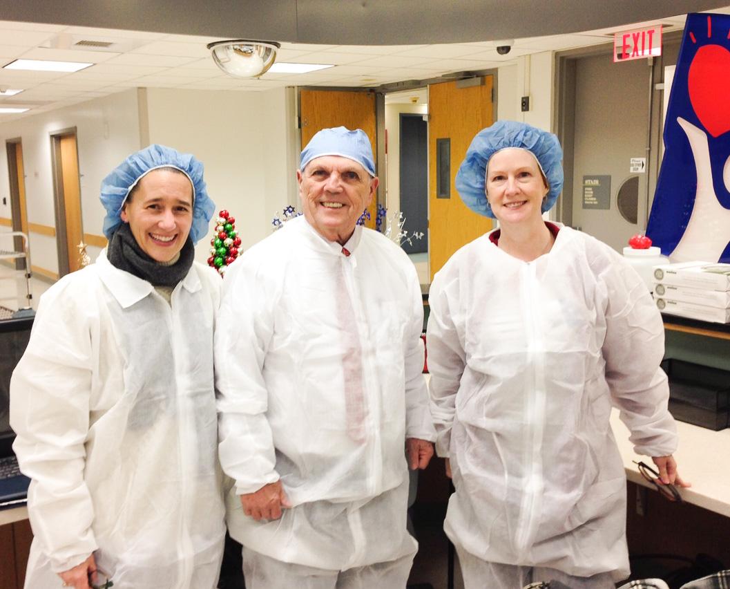 Tiffany Ferry (left), Jack Kelly (middle), and Lisa Klepper (left) at Children's Hospital of Philadelphia Interventional Radiology Lab