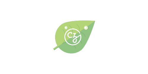 Sprouts Professional Development for Early Career Team Members logo, shaped like a green leaf with white CZI logo on top - CZI Employee Resource Groups (ERGs).