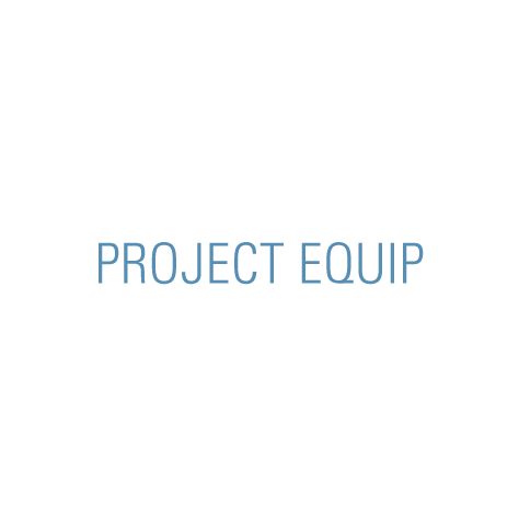 Project Equip logo, in blue text (CZI Education Resource Library).