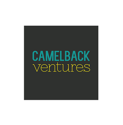 Camelback Ventures logo, with teal and yellow text over a black square background (CZI Education Resource Library).