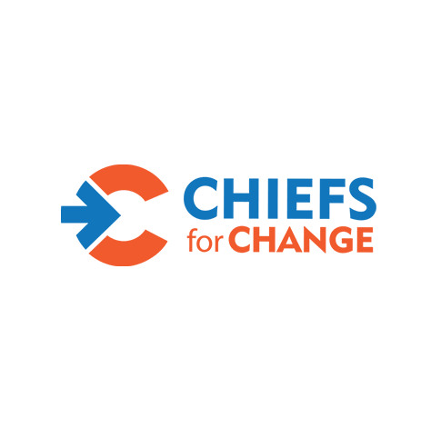"""Chiefs for Change logo, with blue and orange text, and the letter """"C"""" with an arrow icon at left (CZI Education Resource Library)."""