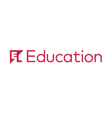 """EL Education logo, with red text and a diagonal """"EL"""" icon at left (CZI Education Resource Library)."""