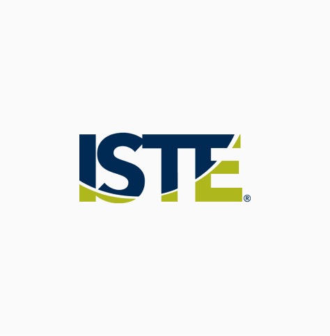 ISTE logo, with dark blue and green text (CZI Education Resource Library).