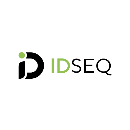 """IDseq logo, black and green text with """"ID"""" icon at left."""