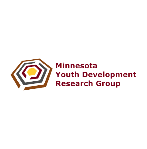 Minnesota Youth Development Research Group logo, with dark red text on three lines, and stylized, multi-color angled hexagon icon at left (CZI Education Resource Library).