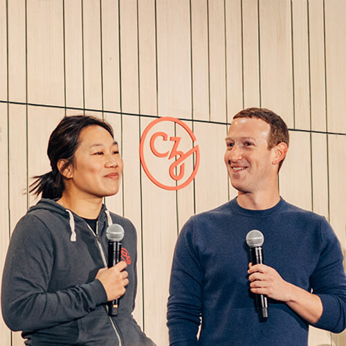 Priscilla Chan and Mark Zuckerberg, CZI Co-Founders and Co-CEOs (Our Leadership).