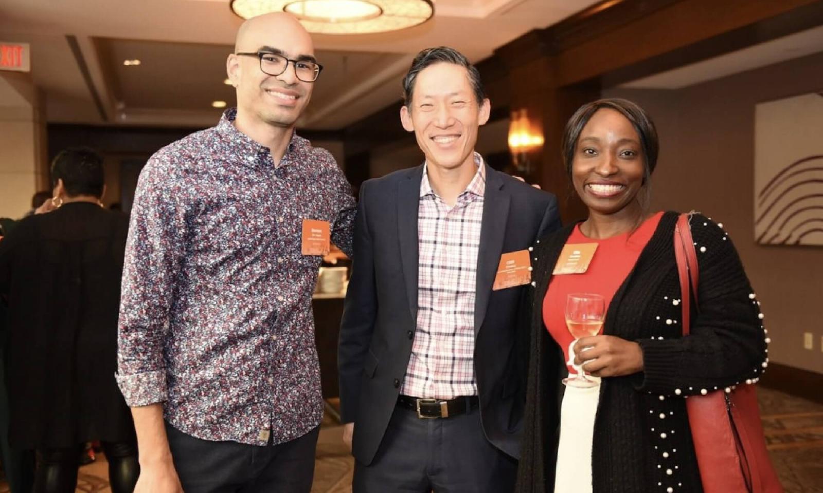 Three EdLoC members at the 2019 National Convening