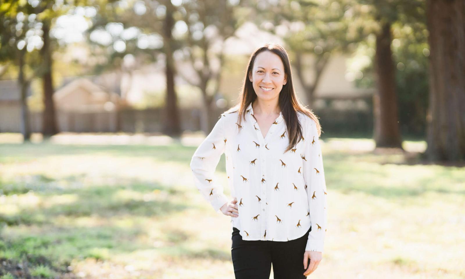 Educator Jennifer Sinclair smiles