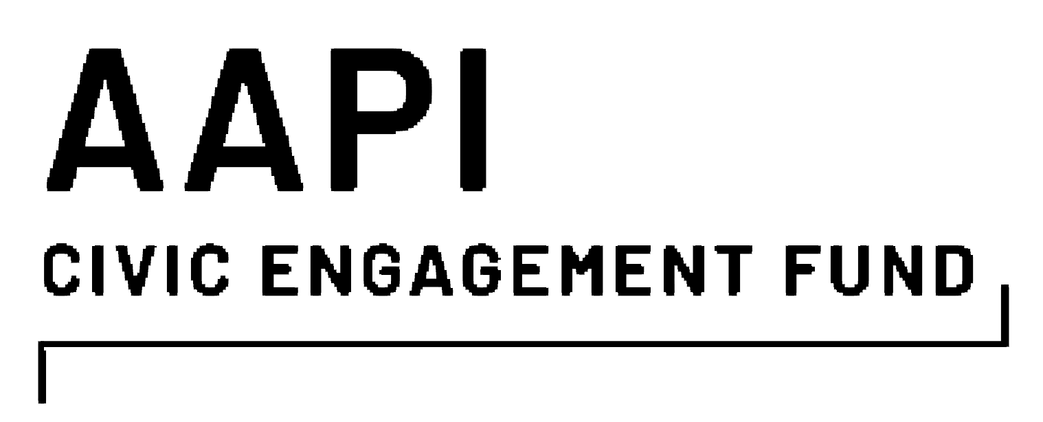 Anti-Racism and Intersectional Justice Fund (ARIJ), AAPI Civic Engagement fund logo, in black text - CZI Racial Equity, Diversity & Inclusion Grants.