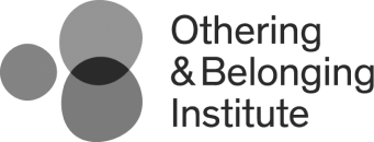 Othering and Belonging Institute logo, with three amorphous gray circles at left - CZI Racial Equity, Diversity & Inclusion Grants.