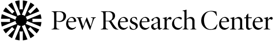 Pew Research Center logo, with black text and circular icon at left - CZI Racial Equity, Diversity & Inclusion Grants.