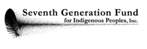 Seventh Generation Fund for Indigenous Peoples, Inc. logo, in black text with feather icon at left - CZI Racial Equity, Diversity & Inclusion Grants.